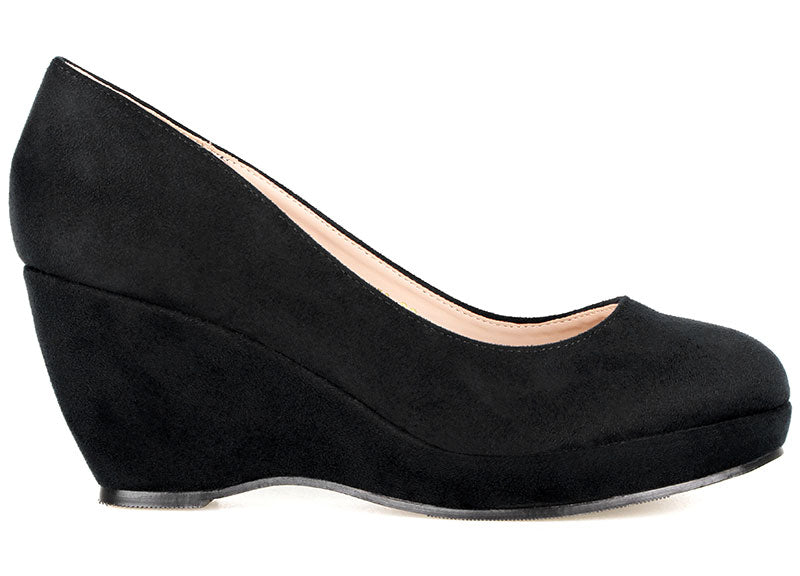 Tomaz L072 Ladies Pump Wedges (Black) (2224618405984)