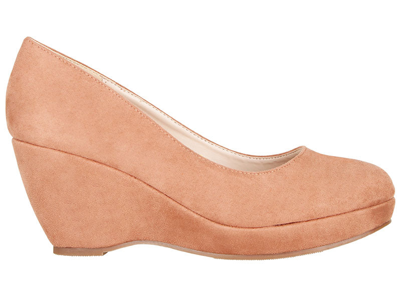 Tomaz L072 Ladies Pump Wedges (Rose Gold)