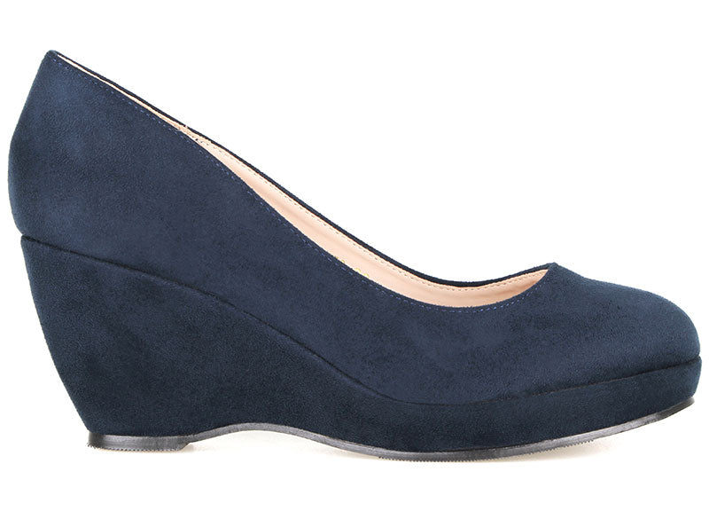 Tomaz L072 Ladies Pump Wedges (Navy)