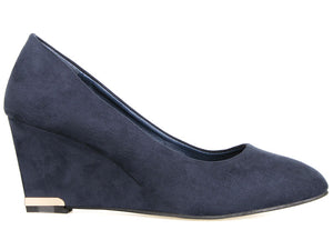 Load image into Gallery viewer, Tomaz L083 Ladies Wedge Heels (Navy) (2225938333792)