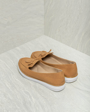 Load image into Gallery viewer, Tomaz LY24 Ladies Bow Loafers (Camel)
