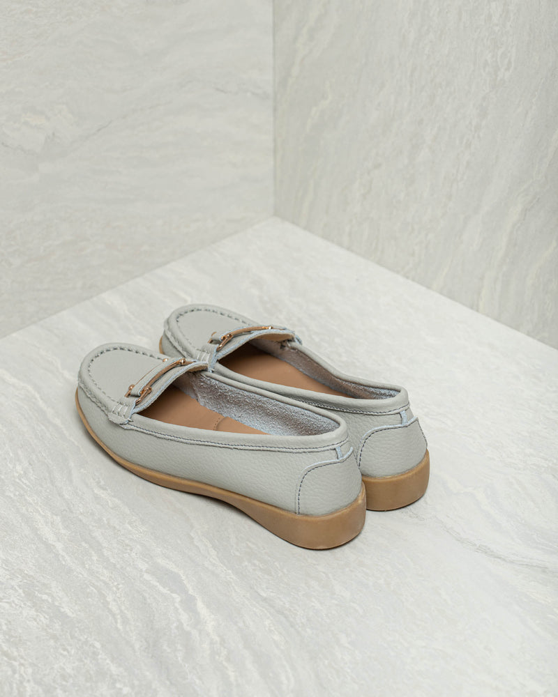 Load image into Gallery viewer, Tomaz LY42 Ladies Buckle Strap Loafers (Gray)