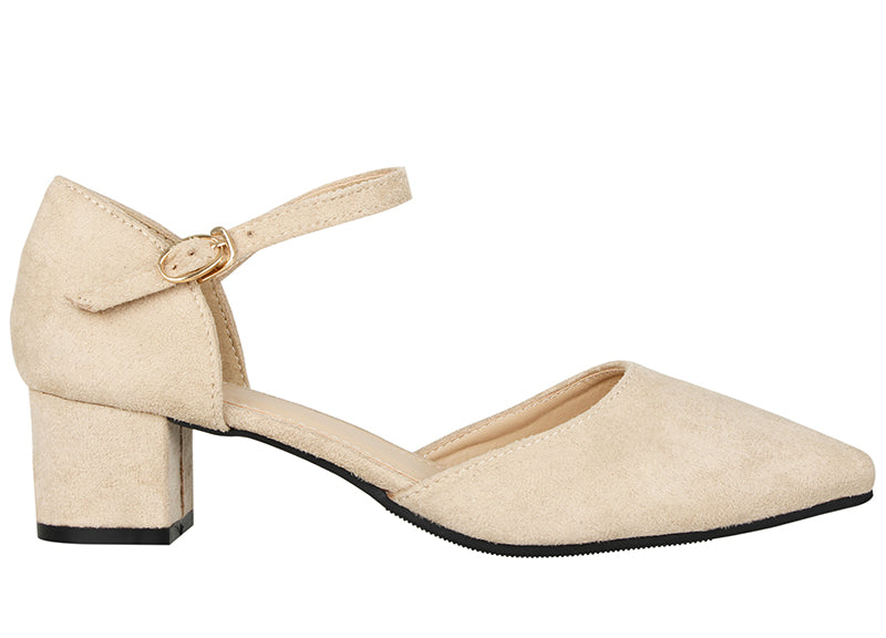 Tomaz LY51 Ankle Strap Heels (Nude)