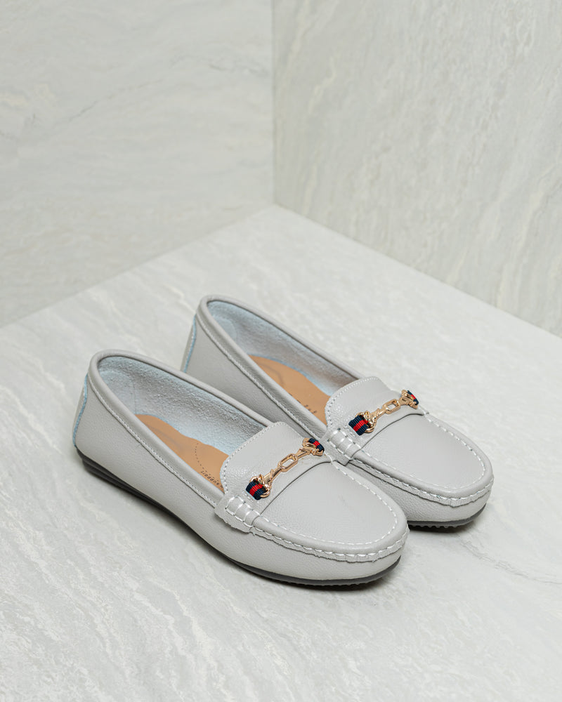 Tomaz LY52 Ladies Buckle Moccasins (Gray)
