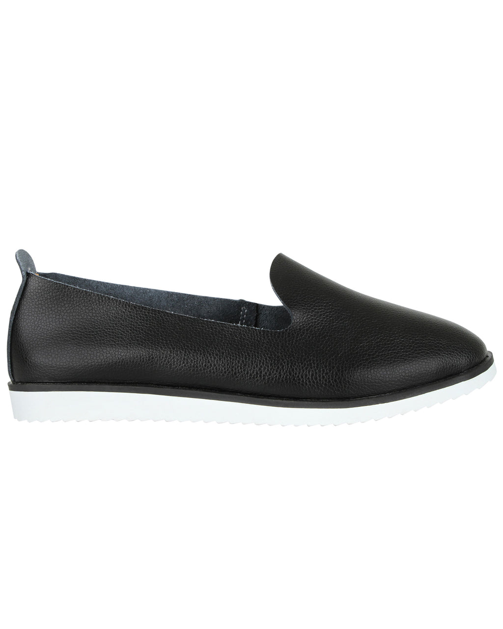 Tomaz LY55 Ladies Whole Cut Slip Ons (Black)