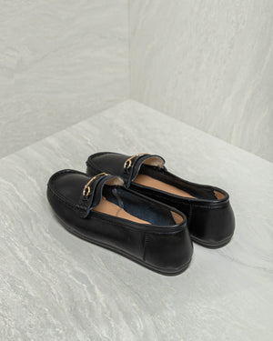 Load image into Gallery viewer, Tomaz LY82 Ladies Buckle Loafers (Black)