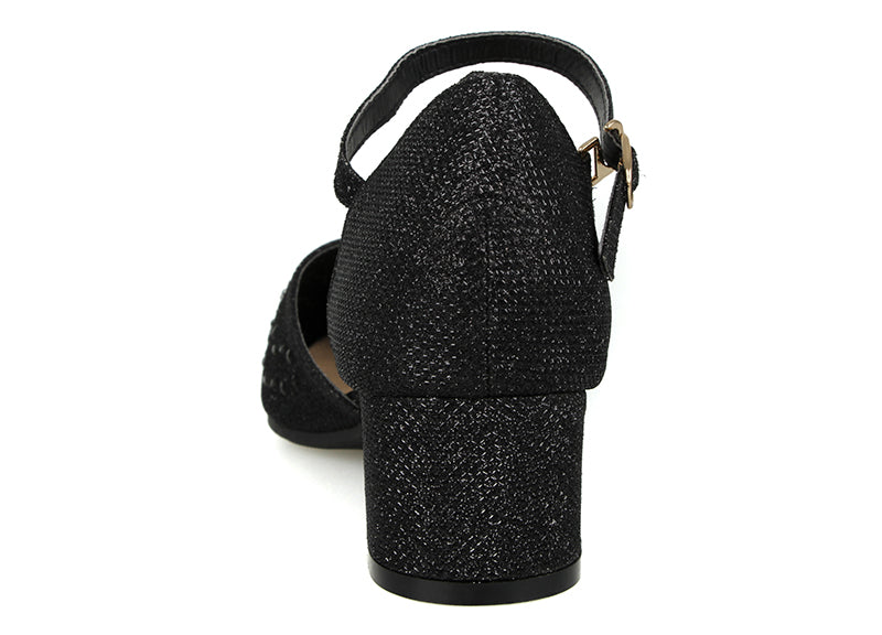 Load image into Gallery viewer, Tomaz LYB45 Ankle Strap Heels (Black) (2020935630944)
