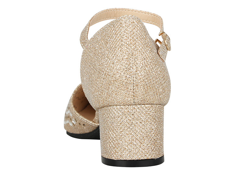 Tomaz LYB45 Ankle Strap Heels (Gold) (2021122375776)