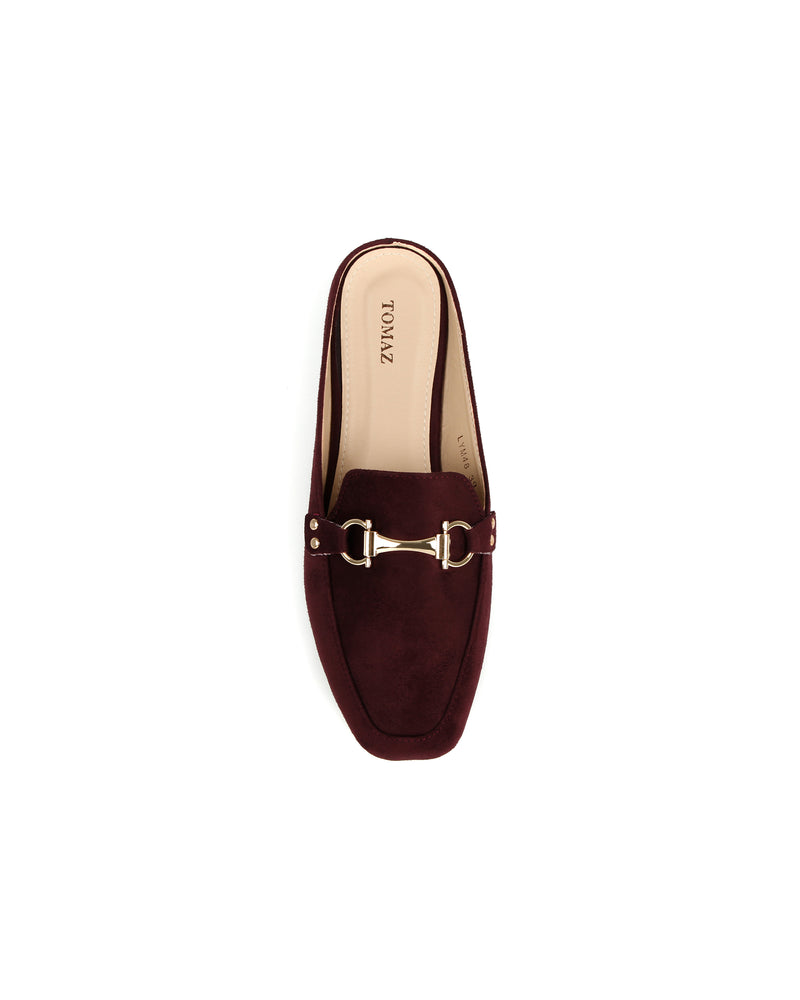 Load image into Gallery viewer, Tomaz LYM48 Ladies Buckled Slip On Mules (Maroon)