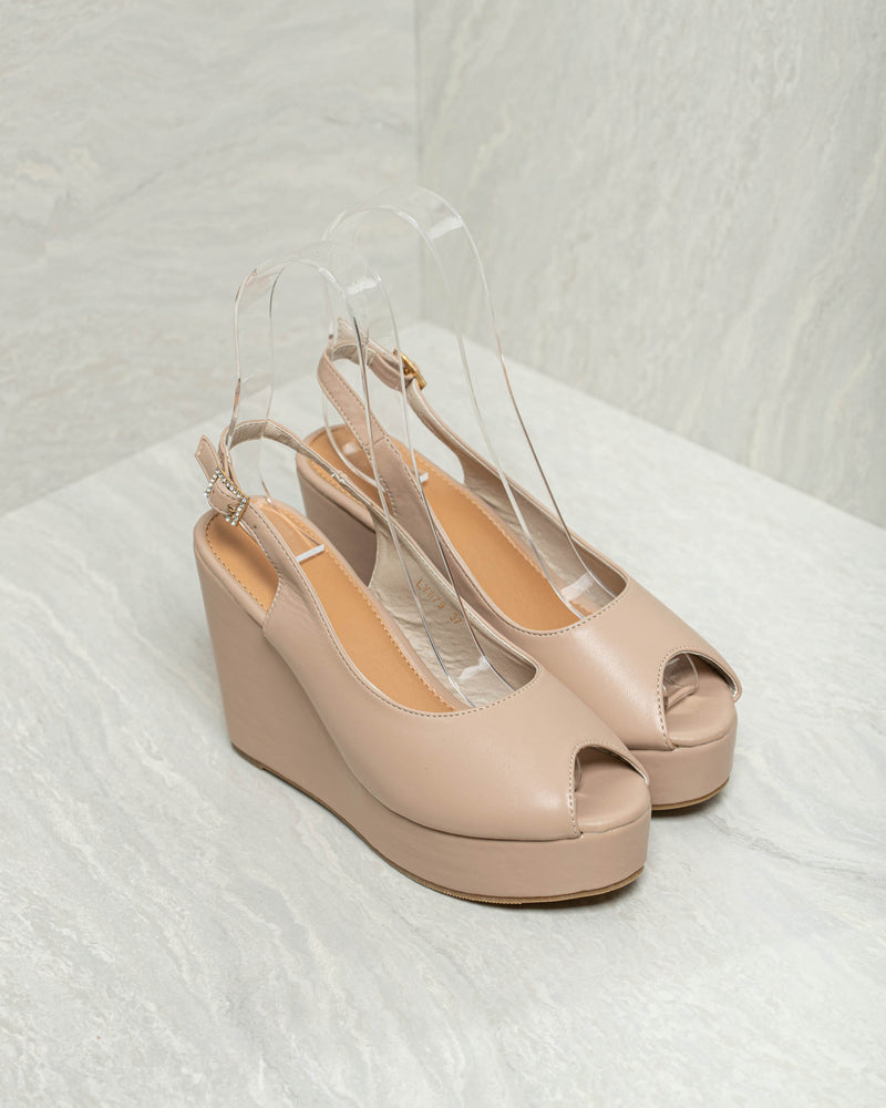 Tomaz LYW79 Ladies Pump Wedges (Beige)