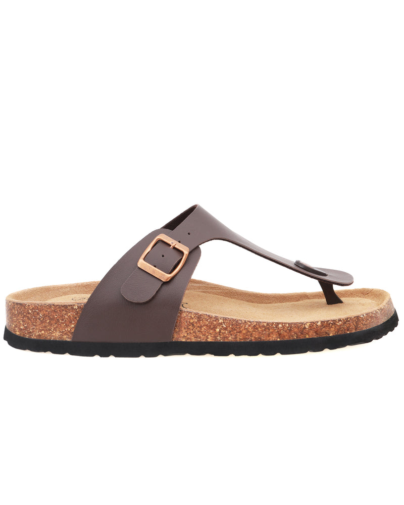 Tomaz M03 Strap Sandal (Dark Brown)