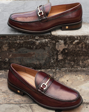 Load image into Gallery viewer, Tomaz F273 Horsebit Loafers (Wine) (4524248072288)