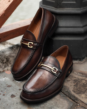 Load image into Gallery viewer, Tomaz F273 Horsebit Loafers (Coffee) (4524247810144)