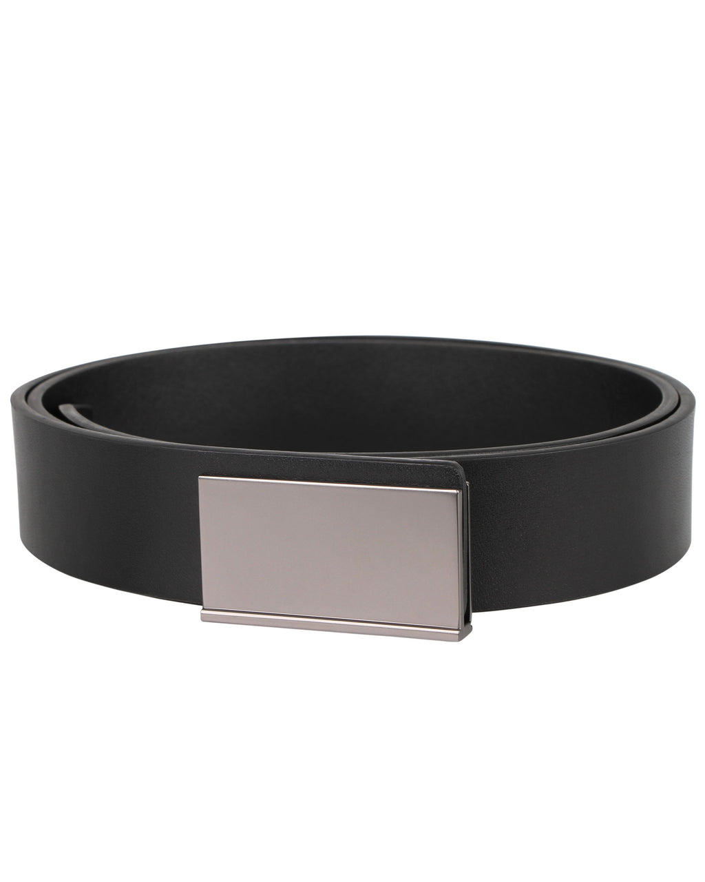 Tomaz Dress Leather Belt Plaque Buckle NT160 (Black)