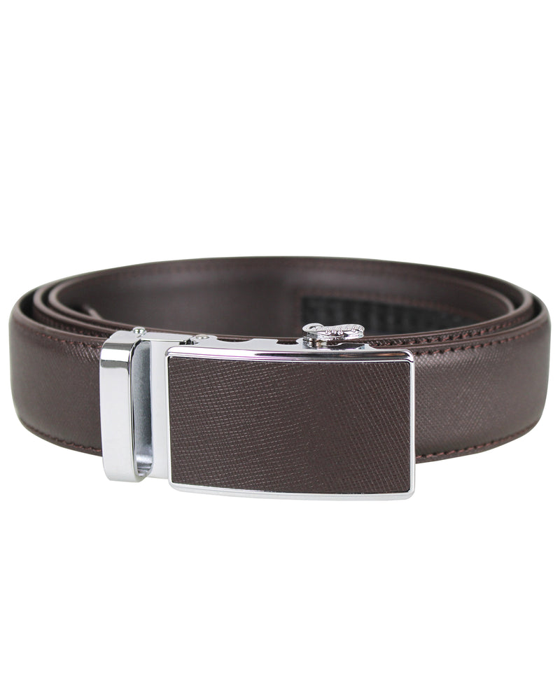Tomaz NT57 Automatic Leather Belt (Coffee)