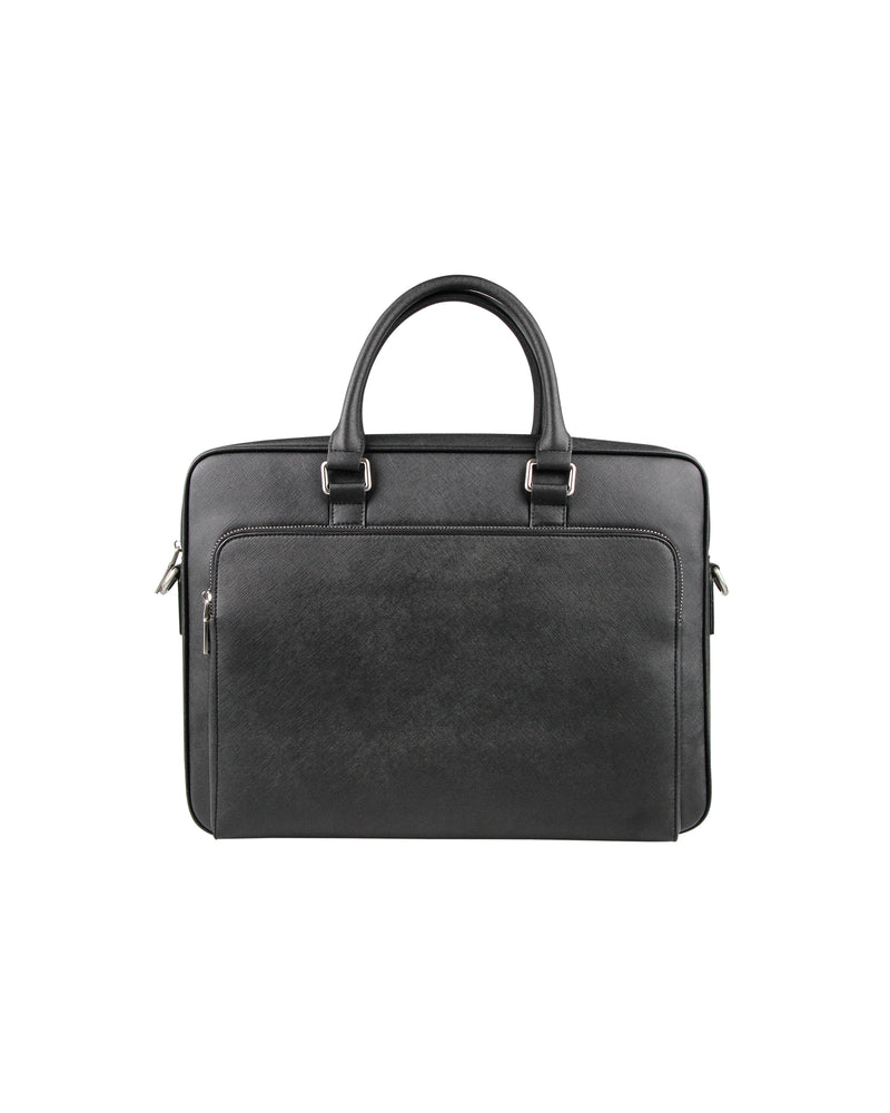 Tomaz NT67 Leather Office Bag (Black)