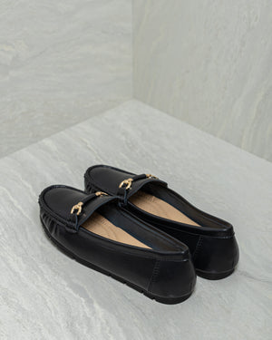 Load image into Gallery viewer, Tomaz PB7 Ladies Buckle Moccasins (Black)