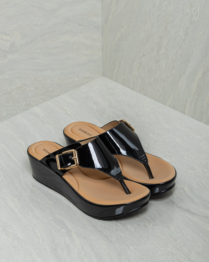 Tomaz PSS1 Ladies Platform Sandal (Black)