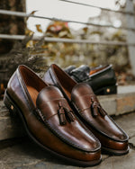 Tomaz BF250 Double Tassel Loafers (Coffee) men shoe, men's shoe, men's italian dress shoes, men's dress shoes, men's dress shoes near me, shoe shop near me, tomaz shoe locations, shoe store near me, formal shoes