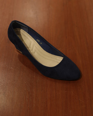 Load image into Gallery viewer, Tomaz L083 Ladies Wedge Heels (Navy)