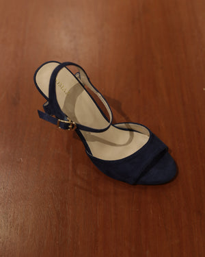 Load image into Gallery viewer, Tomaz CAH5 Ladies Open Toe Heels (Navy)