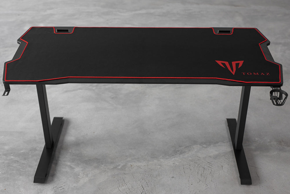 Load image into Gallery viewer, Tomaz Armor Gaming Table 140cm (Black) gaming table,gaming table Malaysia,gaming table design, gaming table cheap, gaming table cup holder, head to head gaming table, gaming table black gaming table 2020