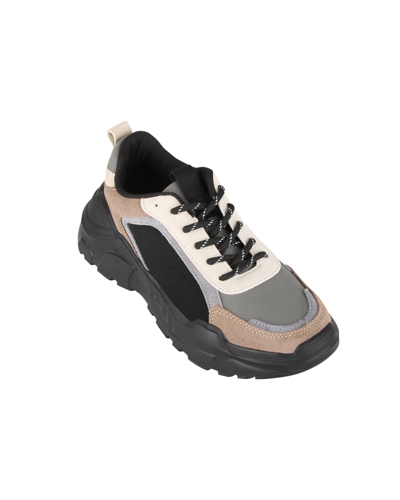 Load image into Gallery viewer, Tomaz TBB07 Casual Sneakers (Grey/LightBrown)