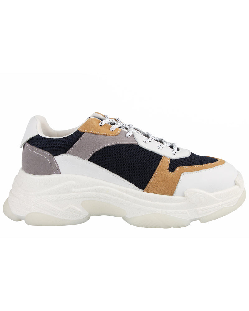 Load image into Gallery viewer, Tomaz TBB15 Casual Sneakers (White/Apricot/Blue)