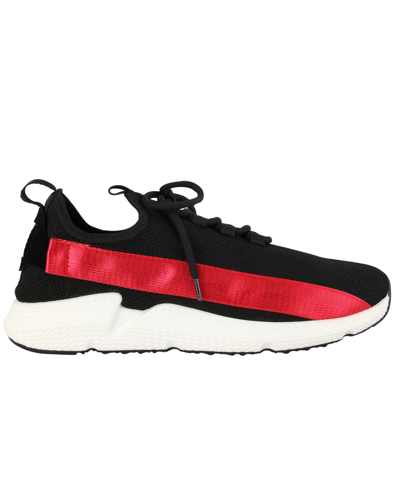 Tomaz TR1001 Men's Casual Sneakers (Black Red) mens shoes sneaker, men's casual sneakers, Men sneakers, Men sneakers on sale, Men sneakers 2020, Men's sneakers on sale near me, Men's running sneakers on sale.