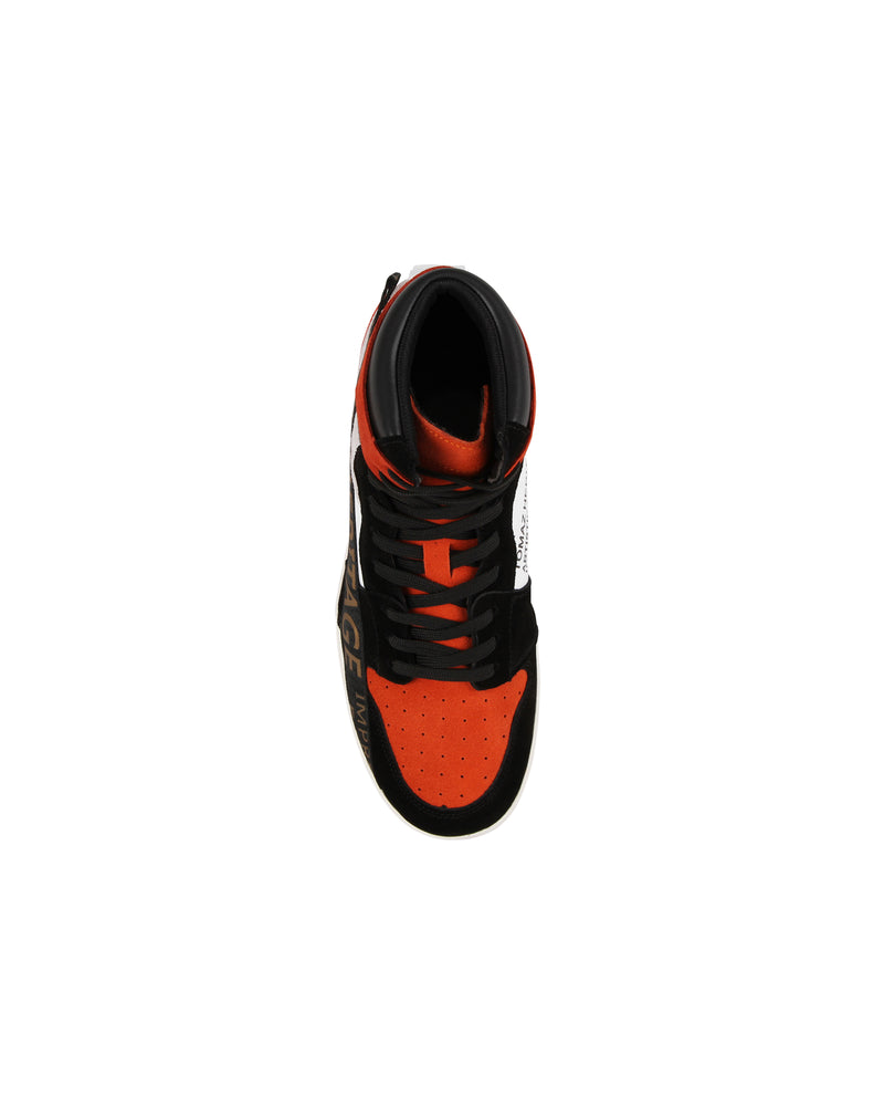 Load image into Gallery viewer, Tomaz TR300 Mens High Tops (Black/Orange/White) mens shoes sneaker, men's casual sneakers, Men sneakers, Men sneakers on sale, Men sneakers 2020, Men's sneakers on sale near me, Men's running sneakers on sale.