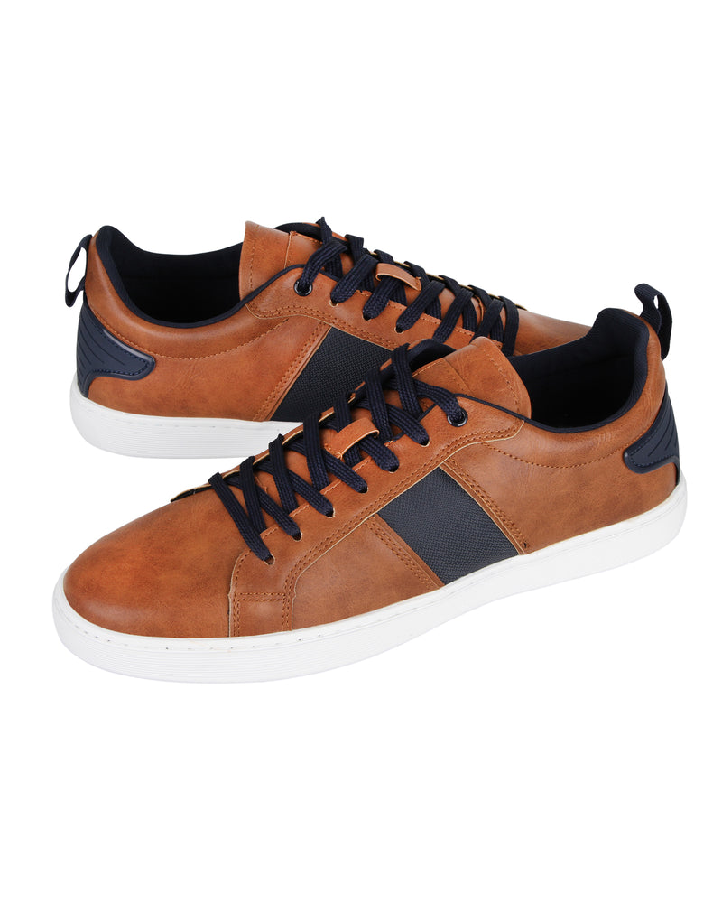 Load image into Gallery viewer, Tomaz TR560 Men's Court Sneakers (Brown) mens shoes sneaker, men's casual sneakers, Men sneakers, Men sneakers on sale, Men sneakers 2020, Men's sneakers on sale near me, Men's running sneakers on sale.