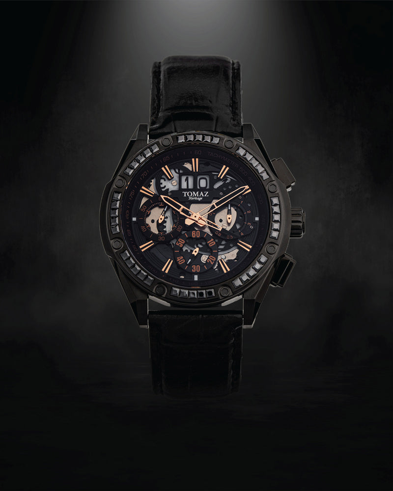 Load image into Gallery viewer, Tomaz Men's Watch RAWR III with Swarovski (Black) -TW024A-D1 best men watch, automatic watch for men, Trending men watch, Luxury watch, Watches of Switzerland, automatic watch for men, jam tangan lelaki, jam tangan automatik, jam kronograf