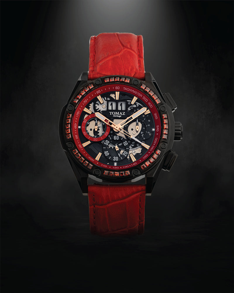 Tomaz Men's Watch RAWR III with Swarovski (Red/Black) -TW024A-D2 best men watch, automatic watch for men, Trending men watch, Luxury watch, Watches of Switzerland, automatic watch for men, jam tangan lelaki, jam tangan automatik, jam kronograf