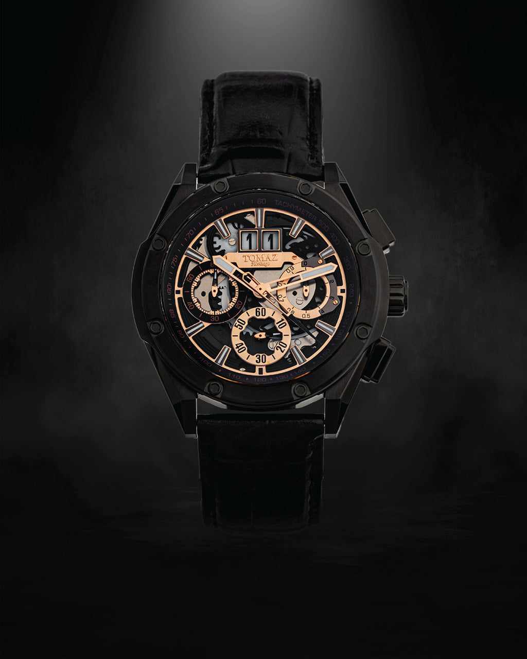 Tomaz Men's Watch RAWR III (Black/Gold) -TW024B-D1