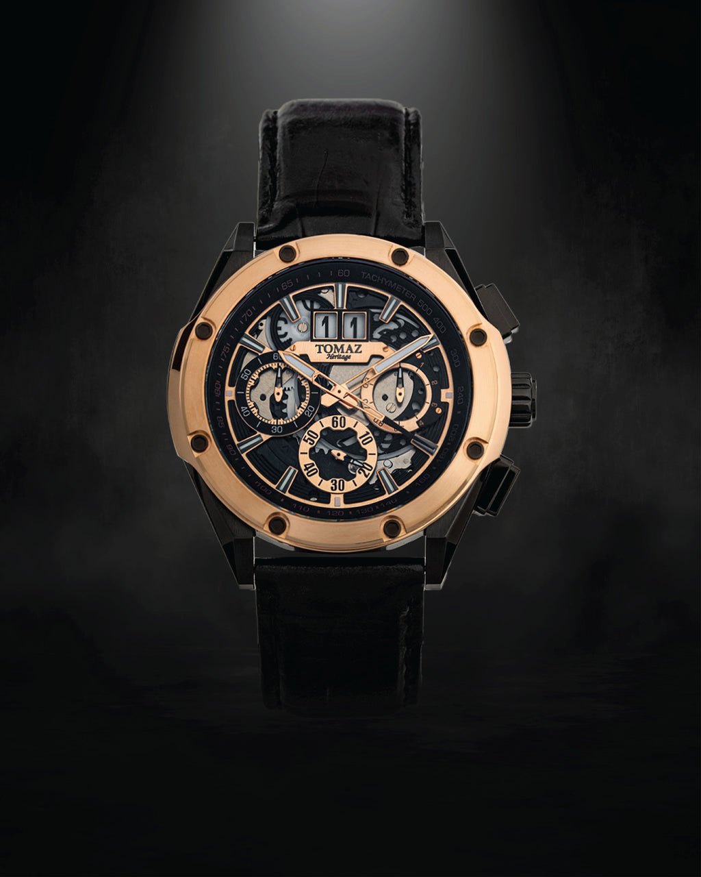 Tomaz Men's Watch RAWR III (Black/Rosegold) -TW024B-D3