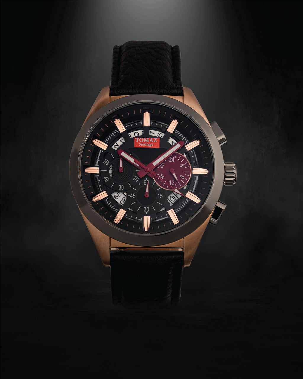 Tomaz Men's Watch Romeo XXV (Rose Gold/Black/Grey)