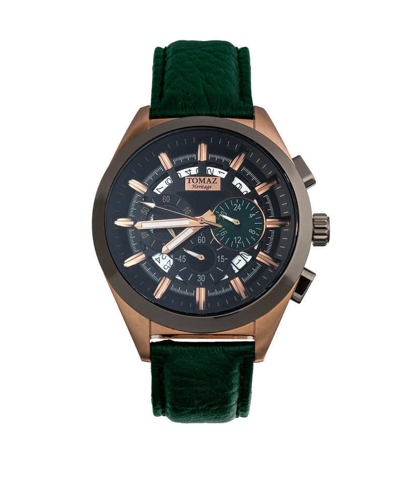 Tomaz Men's Watch Romeo XXV (Gray/Green) -TW025-D4 best men watch, automatic watch for men, Trending men watch, Luxury watch, Watches of Switzerland, automatic watch for men, jam tangan lelaki, jam tangan automatik, jam kronograf