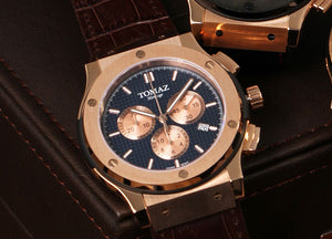 Tomaz Men's Watch TQ008A (Rose Gold/Navy)