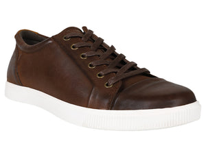 Load image into Gallery viewer, Tomaz C268 Leather Cap-toe Sneakers (Wine) - Tomaz Shoes (8847112904)