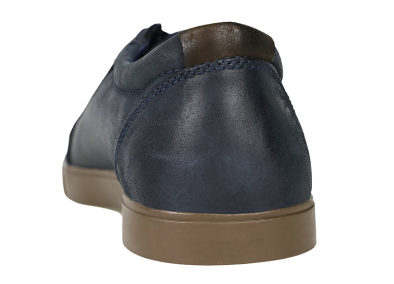 Load image into Gallery viewer, Tomaz C268 Leather Cap-toe Sneakers (Navy) - Tomaz Shoes (787194445913)