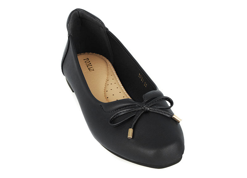Load image into Gallery viewer, Tomaz XP51 Ladies Ribbon Flats (Black) (2225949638752)