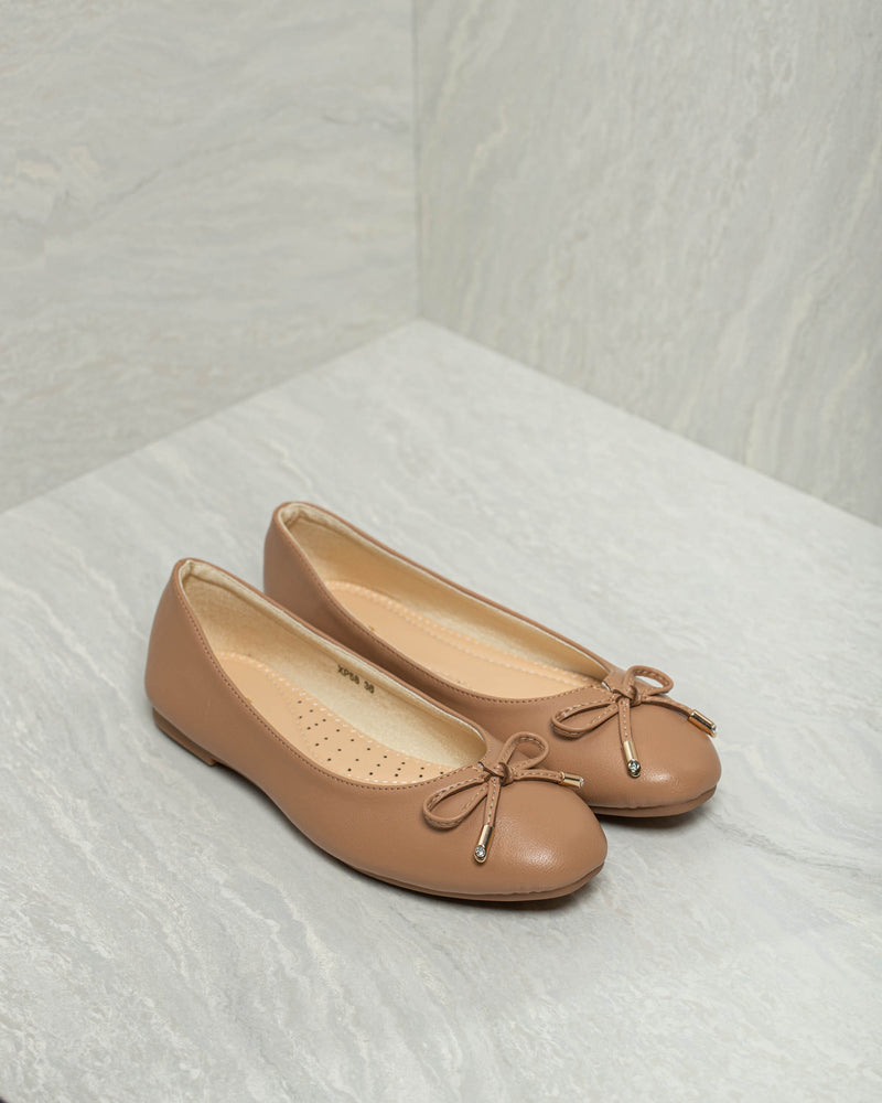 Tomaz XP58 Ladies Bow Flats (Camel)