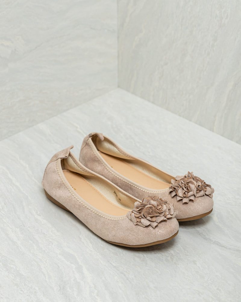 Tomaz XP85 Ladies Floral Flats (Beige)