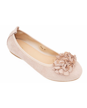 Load image into Gallery viewer, Tomaz XP85 Ladies Floral Flats (Beige)