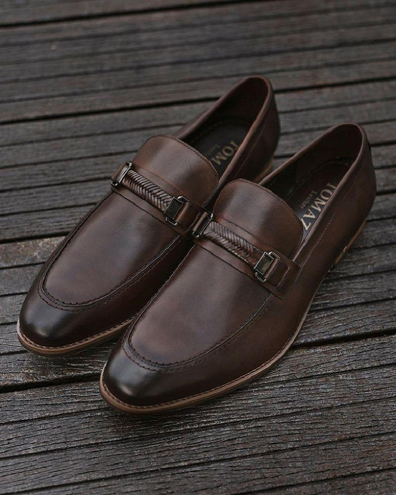 Tomaz BF157 Braided Formal Slip On (Coffee) men shoe, men's shoe, men's italian dress shoes, men's dress shoes, men's dress shoes near me, shoe shop near me, tomaz shoe locations, shoe store near me, formal shoes