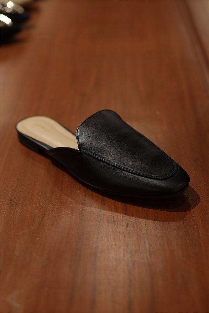 Tomaz RSM13 Ladies Mule Slip Ons (Black)
