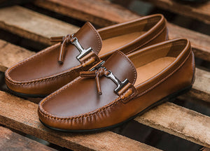 Load image into Gallery viewer, Tomaz C339 Buckled Tassel Loafers (Brown) - Tomaz Shoes (782164754521)