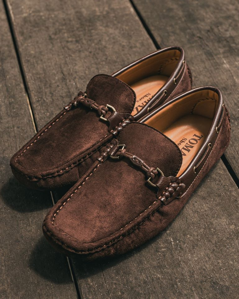 Tomaz C352 Buckled Moccasins (Coffee) (1552141877337)