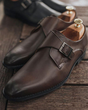 Load image into Gallery viewer, Tomaz F230 Single Monkstrap Loafers (Coffee) (1900922830944)