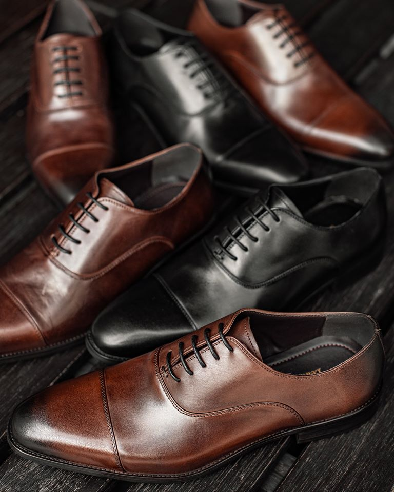 Tomaz HF001 Cap Toe Oxfords (Coffee) (791543349337)